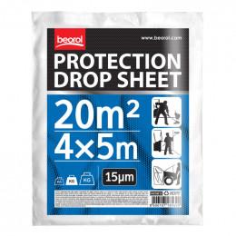 Защитная пленка 4x5м 15микр. прозрачная