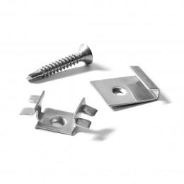 Комплект кляймеров и саморезов для 10 м2 террасной доски Devorex