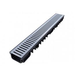 XDRAIN 130/50 канал с оцинкованной решеткой 1м