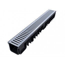 XDRAIN 130/90 канал с оцинкованной решеткой 1м