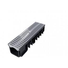 XDRAIN 130/90 канал с пластм. серой решеткой 0,5м