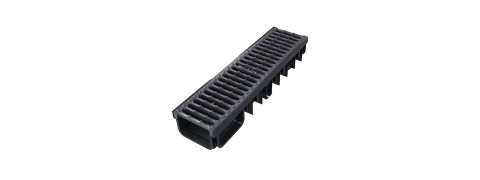 XDRAIN 130/50 канал с чугунной решеткой 0,5м