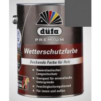 Акриловая эмаль антрацит (графит) 2,5л Dufa Wetterschutzfarbe, Германия
