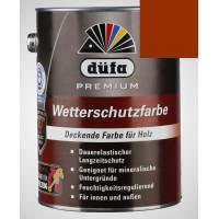 Акриловая эмаль коричневая 2,5л Dufa Wetterschutzfarbe, Германия