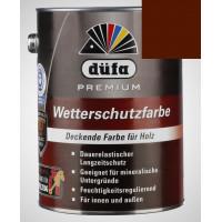 Акриловая эмаль темно-коричневая 2,5л Dufa Wetterschutzfarbe, Германия
