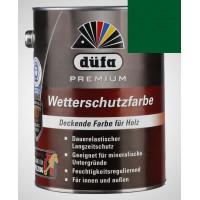 Акриловая эмаль зеленая 2,5л Dufa Wetterschutzfarbe, Германия