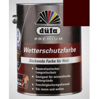 Акриловая эмаль шоколадно-коричневая 2,5л Dufa Wetterschutzfarbe, Германия