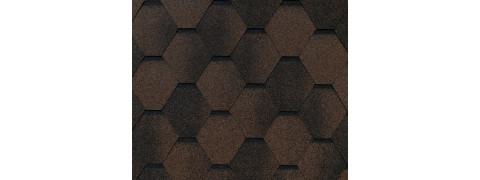 Гибкая черепица FL-S-49 коричневый с оттенением, 1 м2