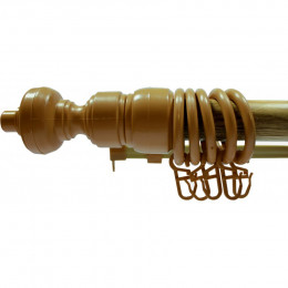 Карниз трубчатый 28мм 1,2м Дуб темный