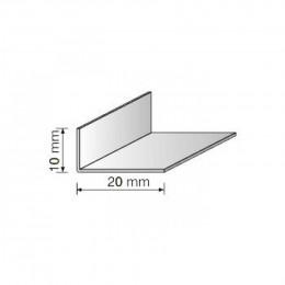 Угол декоративный 10х20 белый 2,75м