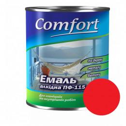 Эмаль ПФ-115 Comfort 0,9кг Красная