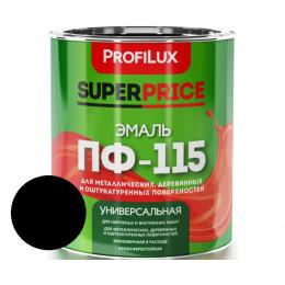 Эмаль ПФ-115 Profilux 1,9кг черная, Россия